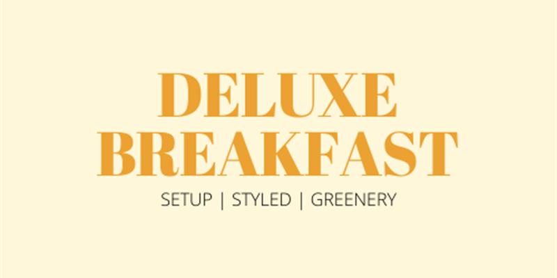 Deluxe Breakfast Grazing Table