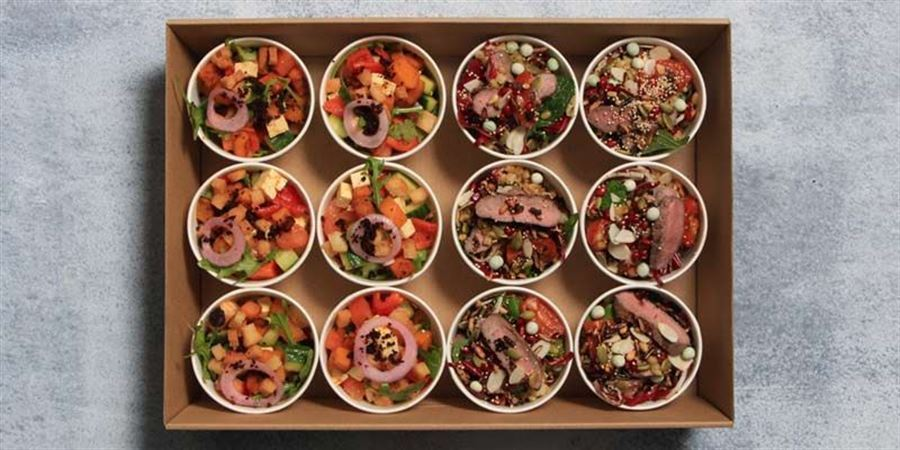 Healthy Salad Pail Box - Vegetarian