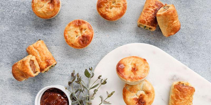 Sausage Rolls + Pies Box