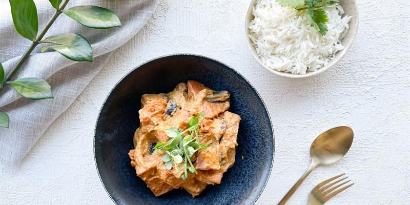 Individual Tofu Thai Red Curry & Rice 🔥