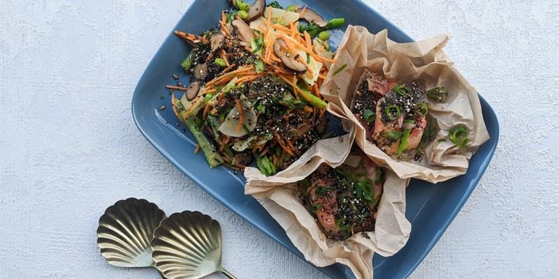 Miso Salmon & Yuzu Wok Vegetables