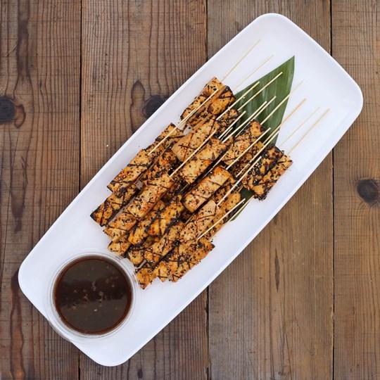 Sesame Glazed Hodo Soy Tofu Skewers