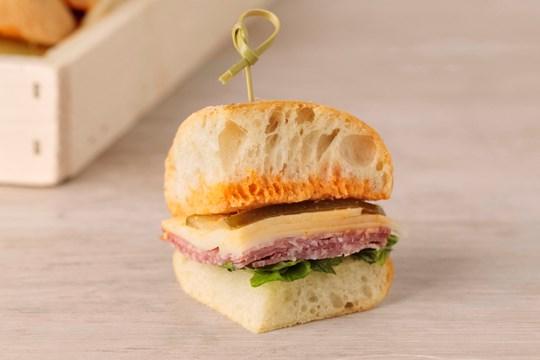 Salami & Provolone Finger Sandwiches
