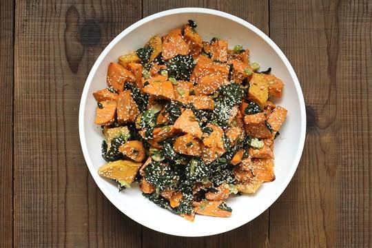 Roasted Sweet Potato & Kale Salad