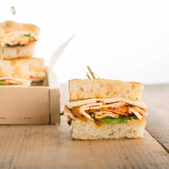 Achiote Chicken Finger Sandwiches