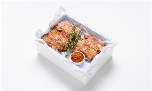Herb roasted lamb rump, harissa