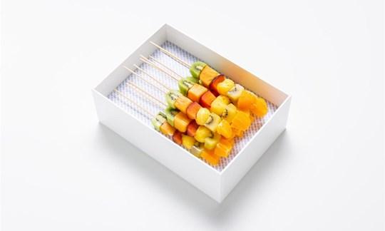 Fresh seasonal fruit skewers