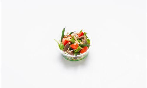 Thai beef, mixed greens, tomato, mung bean, chili, toasted peanut (GF) - Individual