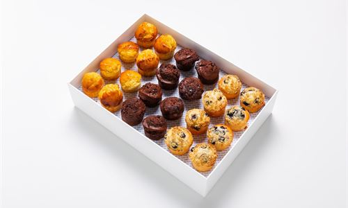 A selection of mini muffins