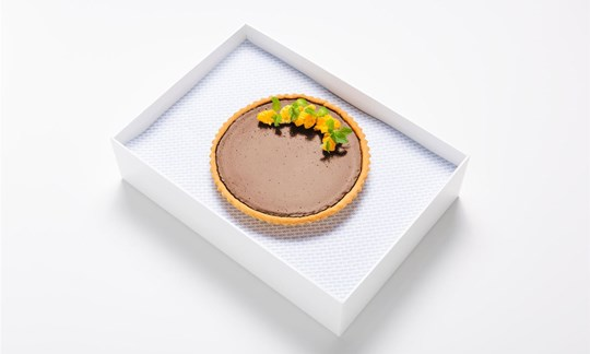 Whole chocolate and Grand Marnier tart