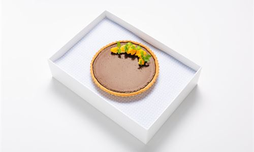 Whole chocolate and Grand Marnier tart