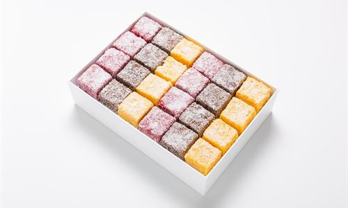 A selection of lamingtons
