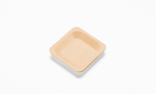 Bamboo plate - small square