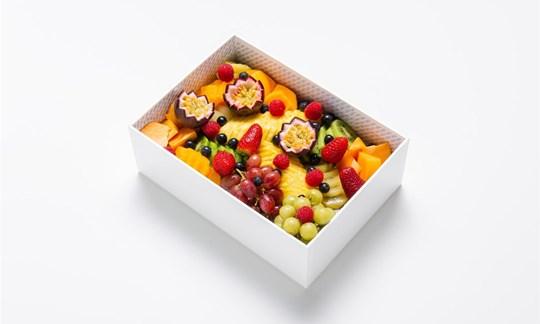A selection of cut seasonal fruits