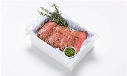 Slow roasted beef sirloin, salsa verde, flaked sea salt