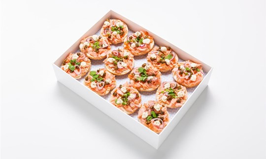 Best Ugly Bagels, house smoked salmon, cream cheese, fried capers