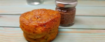Savoury Courgette & Feta Muffin with Bacon Jam