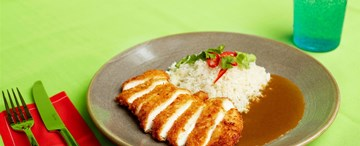 Chicken Katsu Curry With Steamed Rice