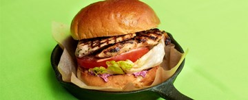Grilled Chicken Burger with House Slaw & Sweet Chilli Jam