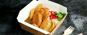 Vegetable Katsu Curry With Steamed Rice