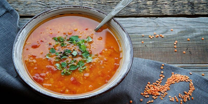 Tomato, Vegetable and Lentil Soup