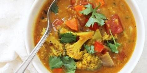 Kashmiri coconut vegetable Soup