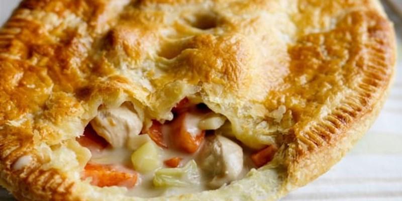 Chicken and Leek pie (2 pies)