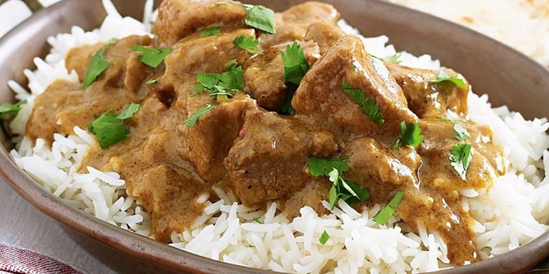Beef Korma and rice