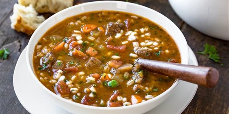 Hearty Beef, lentil & vegetable soup