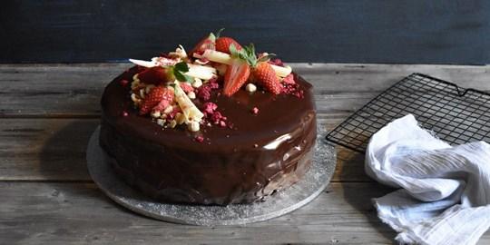 Flourless Chocolate Hazelnut Celebration Cake (GF)