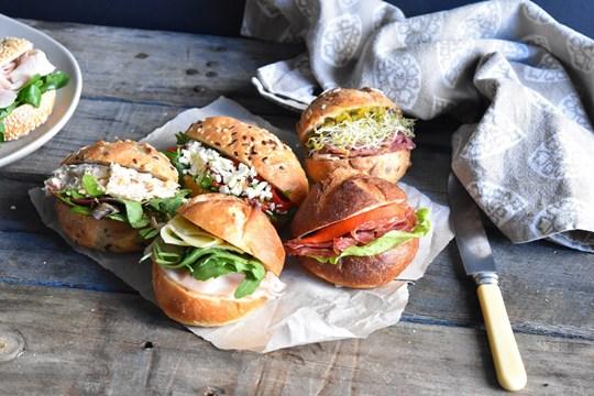Vegetarian Artisan Bakery Rolls