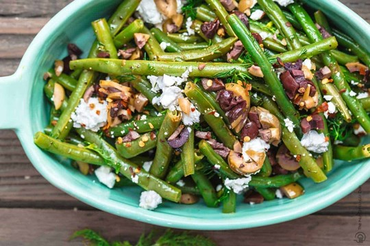 Green Beans, Spanish Onion, Feta and Olives (Serves 3) (NF)