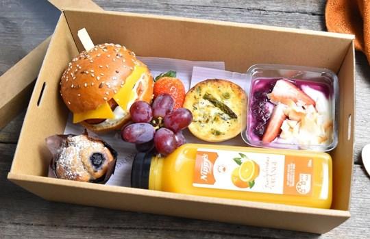 Brioche Roll Breakfast Box