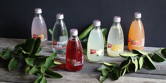 250ml Capi Flavoured Sparkling Mineral Waters