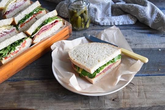 Vegetarian Artisan Sourdough Sandwiches