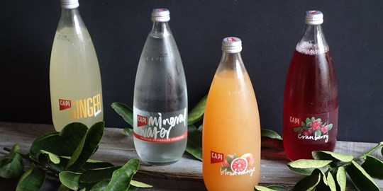 750ml Capi Flavoured Sparkling Mineral Waters