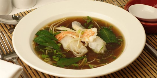 Tiger Prawns in a Chinese Wine Broth - Entrée (DF)
