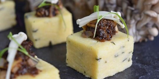 Parmesan and Basil Polenta Cake (VEG, GF & NF)