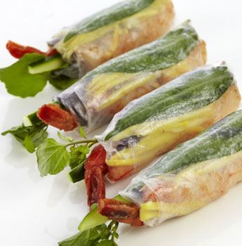 Tiger Prawn & Green Mango Rice Paper Roll (GF) (DF)