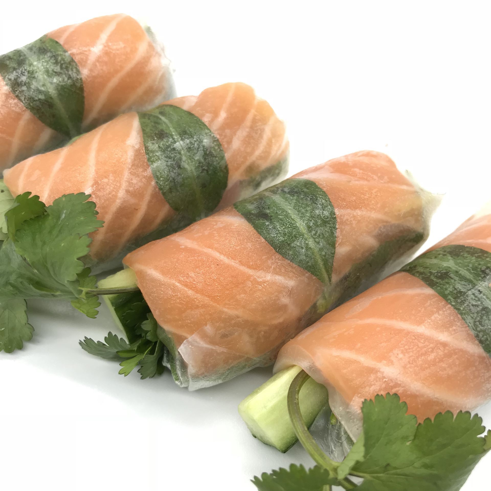 Sashimi Salmon & Avocado Rice Paper Roll (DF)