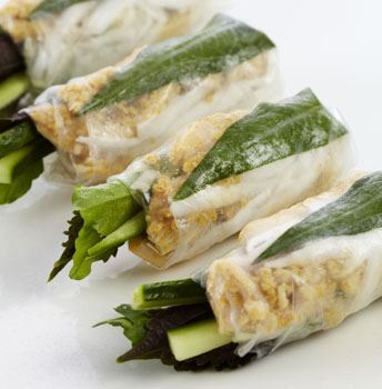 Turmeric Chicken & Cucumber Rice Paper Roll (GF) (DF)