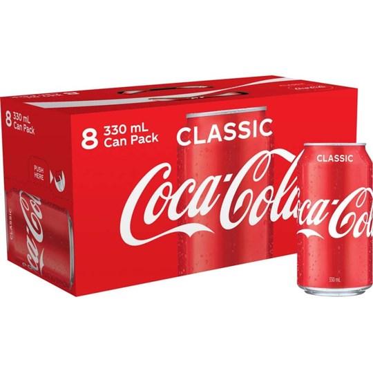 Coca Cola Soft Drink (8 cans)