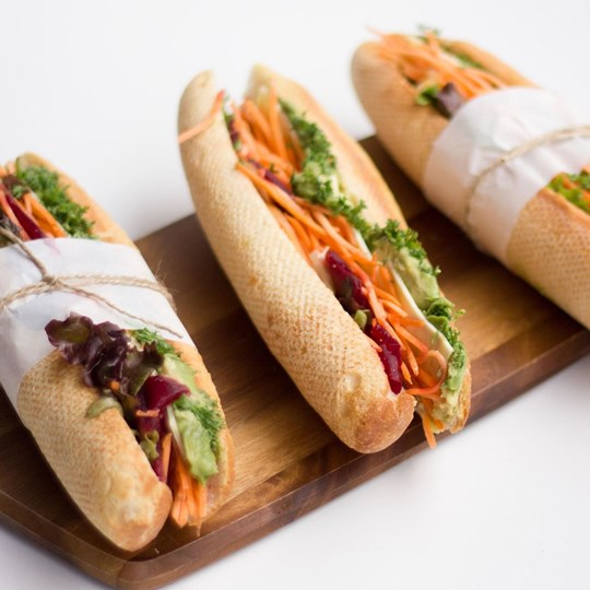 Baguette - Super Salad with herbed mayonnaise