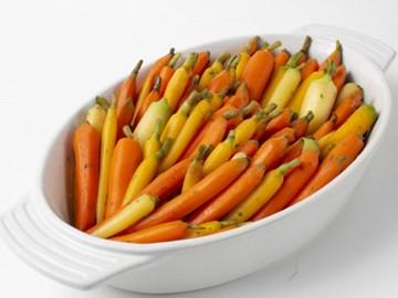 Honey Glazed Rainbow Carrots