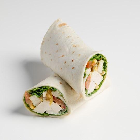 Chipotle Chicken with Aioli Slaw Wrap