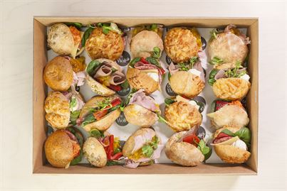 Sandwich Box – Selection of 20 Assorted Little Sandwiches