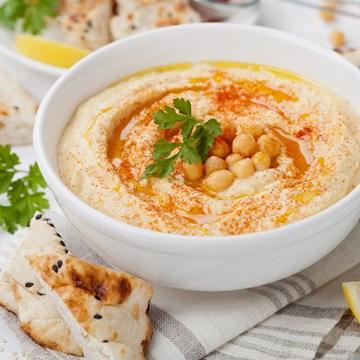 Toasted Pita Points & Hummus