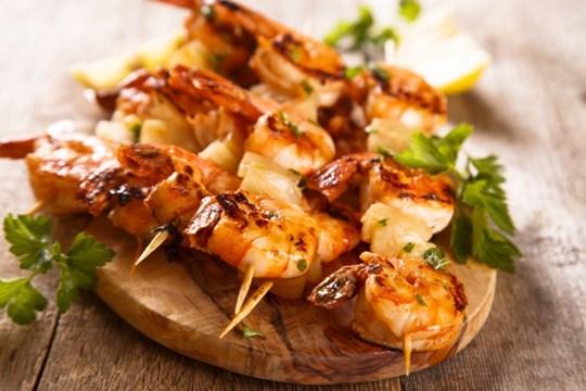 BBQ catering deluxe buffet menu- Pescatarian