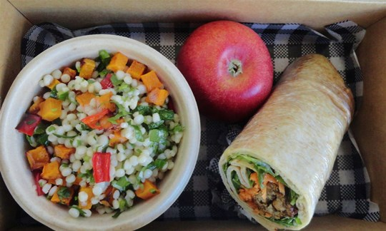 Salad and wrap Lunch box