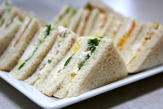 Traditional triangle sandwiches